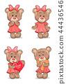 bear teddy character 44436546