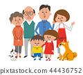 三代六代家庭和寵物 44436752