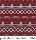 Knitted red seamless pattern background. 44436866