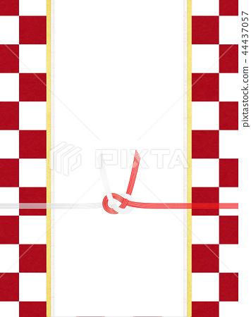日本紙 - 日本 - 日本風格 - 日本模式 - 方格圖案 - 紅色和白色紙 -  Mizuhiki 44437057