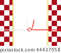Japanese paper-Japanese-Japanese style-Japanese pattern-checkered pattern-red and white-paper-Mizuhiki 44437058