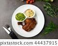 grilled chicken drumstick steak 44437915