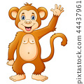 Cute chimpanzee cartoon 44437961