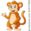 Vector illustration of Cute chimpanzee cartoon 44437966