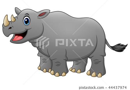 Vector illustration of Cute rhino cartoon 44437974