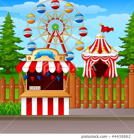 Amusement park background 44438062