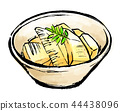 Bamboo shoot simmered with a brush 44438096