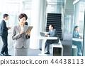 แท็บเล็ตดิจิตอล,ธุรกิจ,ภาพวาดมือ ธุรกิจ 44438113