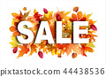 Sale banner with bright autumn foliage 44438536