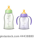 empty baby bottles isolated on background 44438880