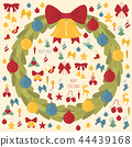 christmas, wreath, decoration 44439168