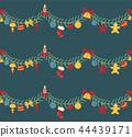 christmas, garland, vector 44439171