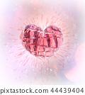 Brilliant ruby on white background. Black Crystal. 44439404