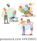 Medical treatment, healthcare illustration 44439601