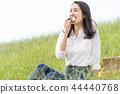 ผู้หญิงที่กินข้าวปั้น 44440768