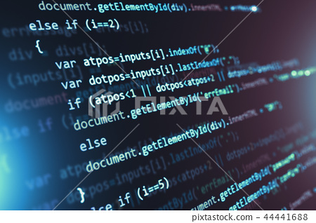 Programming source code abstract background 44441688
