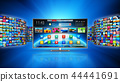 Streaming media technology and multimedia concept 44441691