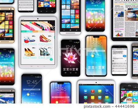 Smartphones, mobile phones and tablet computers 44441696