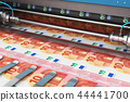 Printing 10 Euro money banknotes 44441700