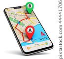 smartphone, phone, map 44441706