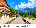 Caux cogwheel railway station in Switzerland 44442118