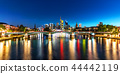 Night panorama of Frankfurt am Main, Germany 44442119