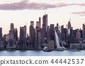 Boulevard east New York city skyline view. 44442537