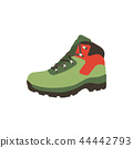 Hiking boot icon in flat style isolated on white background. Shoes mountain symbol stock. Vector 44442793