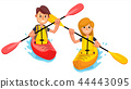 couple, kayak, boat 44443095