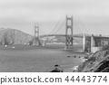 The iconic Golden Gate Bridge in San Francisco 44443774