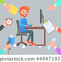 man, computer, work 44447192