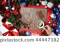 Christmas, New Year on wooden 44447382