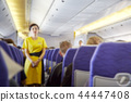 Blurred Flight serving passengers 44447408