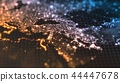 dark earth map with glowing details of city and human population density areas. wiew of middle east 44447678