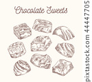 Collection of sketch chocolate sweets 44447705