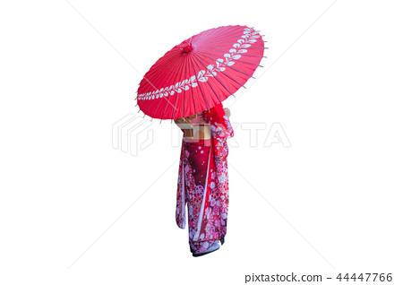 Asian woman wearing japanese traditional kimono. 44447766