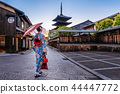 woman wearing japanese traditional kimono. 44447772
