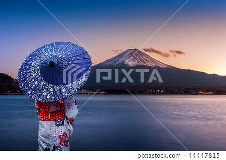 Asian woman wearing japanese traditional kimono 44447815