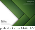 Abstract of gradient green paper cut pattern. 44448127