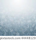 Abstract of Christmas snowflakes movement. 44448129