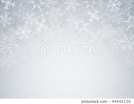 Snowflakes in Christmas festival theme on blur. 44448130