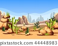 Desert scenery or american canyon landscape 44448983