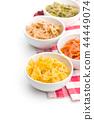 Farfalle pasta. Colorful italian pasta. 44449074