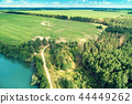 Aerial view of the countryside and river 44449262