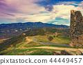 Evening view of Mtskheta mountain valley 44449457
