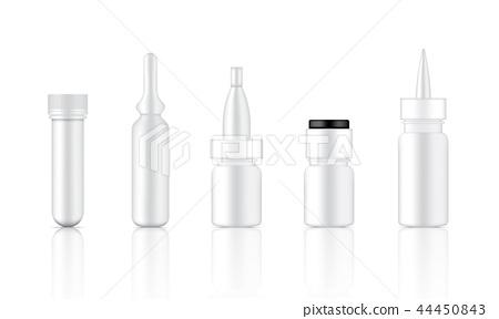 Mock up Realistic Serum, Ampoule, Dropper Bottle 44450843