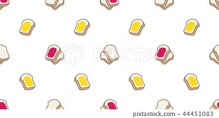 bread seamless pattern vector food bakery bake jam 44451083
