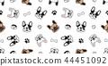 Dog seamless pattern vector french bulldog paw 44451092
