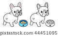 dog vector french bulldog logo icon bowl food cute 44451095