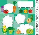 蔬菜 人物 对话泡泡 44451536